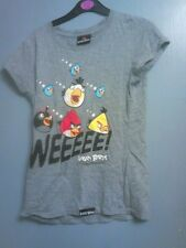 Girls Grey Angry Bird Top size M