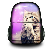 New Canvas Cute Cat Backpack Ladies Travel Bag School Bag For Girls Rucksack