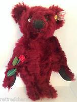 "❤️Steiff MINI DEW DROP ROSE Teddy Bear 🐻 666384 MOHAIR 6"" 16cm EUC ~ Precious❤️"