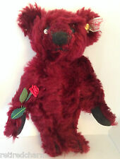 "��Steiff Mini Dew Drop Rose Teddy Bear � 666384 Mohair 6"" 16cm Euc ~ Precious��"