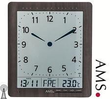 Ams 5893 Horloge murale Radio-pilotée Affichage de le temps Date
