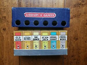 BIG LITTLE Library of Games RUSSELL Boxed Set of 6 Complete w Cover c 1935