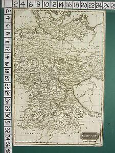 c1820 GEORGIAN MAP ~ GERMANY ~ BAVARIA SAXONY HOLSTEIN BRANDENBURG