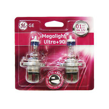 2 X H4 Halogen Light Bulbs Ultra Plus 90% Megalight Xenon Ge Genuine 60/55w