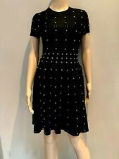 NWT- Black fit & flare dress w/silver eyelets- The Kooples- LBD- Retail $318