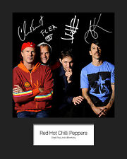 RED HOT CHILLI PEPPERS #2 10x8 SIGNED Mounted Photo Print - FREE DELIVERY