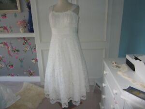 Joanna Hope ivory corded lace ballerina wedding dress size 14