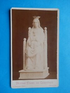 ORIGINAL  CDV  PHOTO NOTRE DAME de CHARTRES GALLAS  1898 CLERC MANUSCRITE