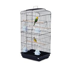 "36"" Bird Cage Cockatoo Macaw Play House Parrot Finch 2 Doors Pet Perch"