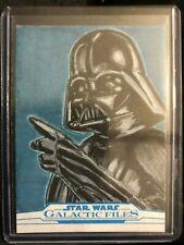 2018 Star Wars TOPPS GALACTIC FILES SKETCH CARD DARTH VADER 1/1