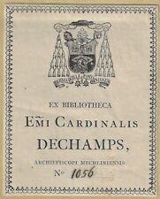ANONYM: Exlibris für Victor Dechamps