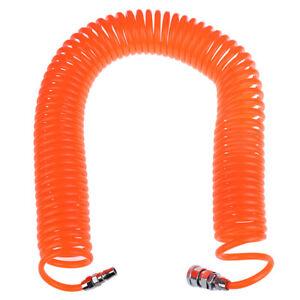 15m Polyurethane PU Air Compressor Hose Tube Pneumatic Hose Spring Air Pipe WD