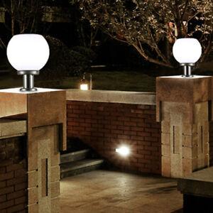 200MM LED Solar Wall Pillar Lamp Outdoor Round Ball Round Light Pathway Light🔥