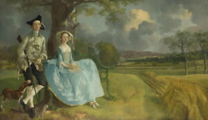 Thomas Gainsborough Mr and Mrs Andrews Giclee Canvas Print Paintings Poster