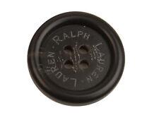 "Ralph Lauren Solid Black Plastic Main Front Replacement button .95"""