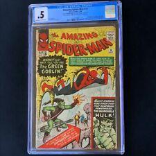 AMAZING SPIDER-MAN #14 (1964) 💥 CGC 0.5 OW-W 💥 1st App of GREEN GOBLIN! Comic