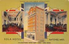 Natchez Mississippi Eola Hotel Multiview Antique Postcard K41337
