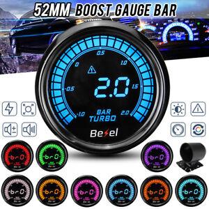 2'' 52mm Car Turbo Boost Pressure Press Gauge Meter Digital LED Display