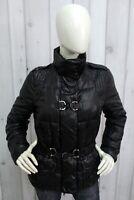 MARLBORO CLASSICS Taglia 46 / L Donna Jacket Giubbotto Nero Giubbino Coat Giacca