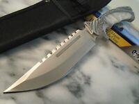 """Ridge Runner Fancy Elite Pearl Bowie Hunter Knife Full Tang 634 10 3/4"""" OA New"""