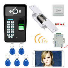 Wireless WIFI Password Video Door Phone Doorbell Intercom+Electric Strike Lock