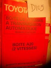 D105- Revue technique TOYOTA Boite de vitesse transmission automatique A20 Av 77