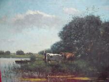 Artiste Tableau __ Paysanne avec Vaches __ Kees Van Loon __ Top