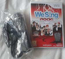 WE SING ROCK Wii KARAOKE SINGING GAME + MICROPHONE brand new & sealed UK SET!