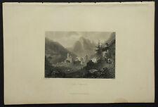 1850c:VISTA DI SIMPLON - SEMPIONE.SVIZZERA Engraving - AETNA.ITALIA.MEYERS...