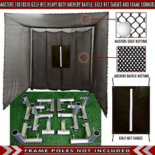 Cimarron Golf Cage Practice Net 10' x 10' x 10' Frame Corners & Baffle Included