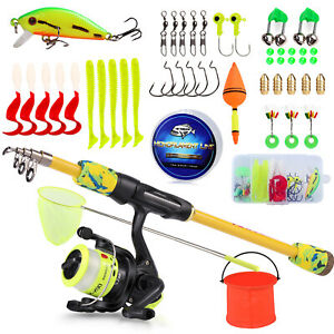 Fishing Rod and Reel Combo Spinning Line Lure Hook Full Set Gifts for Children