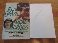 Boston Red Sox Little Professor DOM DIMAGGIO signed REAL HEROES 1st Ed Book COA