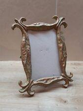 (PC2) Superbe Cadre Photo Verticale en Bronze sans sa Vitre pour Photo 10x15cm