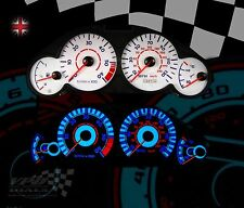 Peugeot 206 diesel 1.4 interior clock dash custom speedo lighting white dial kit