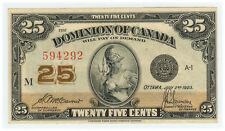 Dominion of Canada - 25 Cent 1923  XF - Fresh & Crisp