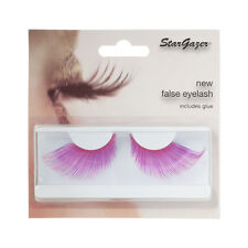 Stargazer Reusable False Eyelashes Pink and  Purple  #57