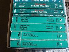 1996 1997 0r 1998 Grand Am Oldsmobile Acheiva Buick Skylark Service Shop  Manual