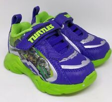 KidsTeenage Mutant Ninja Turtles Green Light Up Trainers  Shoes UK INFANTS 6.5