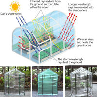 2-5 Tier Portable Mini Greenhouse Outdoor Plant Shelves Cover Garden Green House