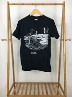 VTG Delta Men's Carolina Beach North Carolina Swamp Graphic Black T-Shirt L USA