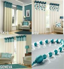 SKYE & GENEVA & LILY LINED EYELET CURTAINS OR BEDDING SETS - SOLD SEPARATE