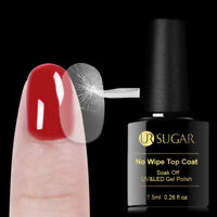7.5ml UR SUGAR Tempered Base Coat No Wipe Top Coat Soak Off UV Nail Gel Polish