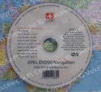 OPEL DVD90 Navigation Map Mise à jour 2019 Europe DVD New