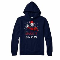 Star Trek Christmas Hoodie, Make It Snow Xmas Festive Adult & Kids Hoodie Top