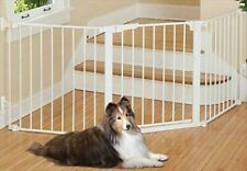 """New listing Kidco 30"""" Tall Command Custom Fit Dog Gate Auto Close Free Standing White Pg5300"""