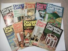 Lot of 10 DECORATING & CRAFT IDEAS 1978-Needlecrafts, painting, glass,beading et