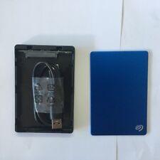 Seagate Backup Plus Slim Portable External Hard Drive USB 3.0 Enclosure BLUE