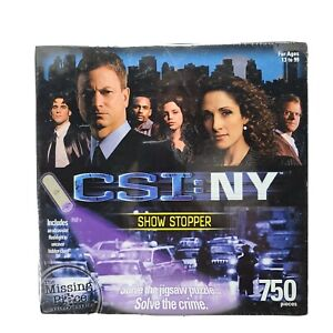 CSI: NY Crime Scene Investigation New York 750 Piece Mystery Puzzle Show Stopper