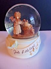 Vintage Snow Globe God's Little Angel Plays 'O Holy Night'