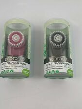 eco tools Facial Cleansing Brush Compact Portable Size Gray and Pink lot of 2